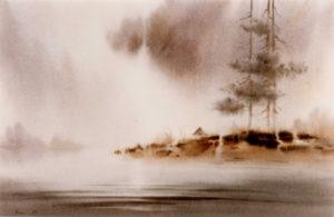 Wet-on-Wet Watercolor Landscape Shalumov