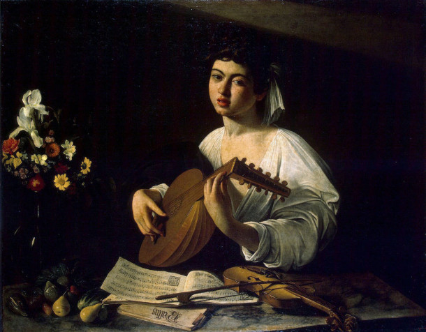 Caravaggio Lute Playe Inspired by art