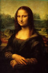 Mona Lisa la Gioconda Inspired by art gown competition
