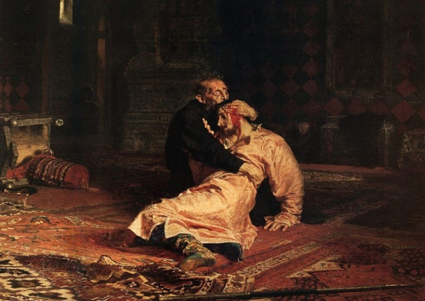 Ilya Repin - Ivan the Terrible and his son Ivan Inspired by art