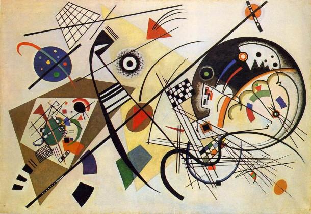 "Wassily Kandinsky. ""Transverse Line"", 1923. Dusseldorf. Germany."