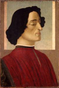 """Sandro Botticelli """"Portrait of Giuliano de'Medici""""_ Composition_Inspired by Art"""