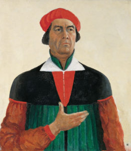 Kazimir Malevich, Self-Portait 1933. Concept and Composition in the design.