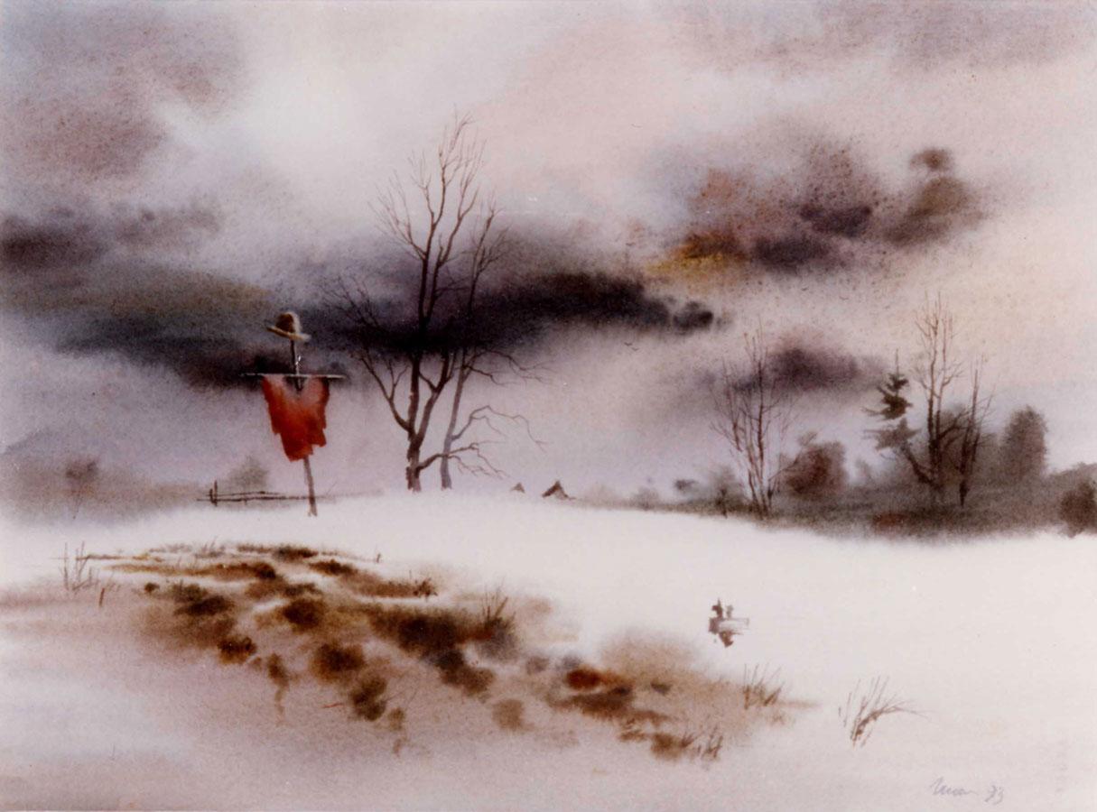 watercolor paintings wet-on-wet artist Shalum Shalumov landscape