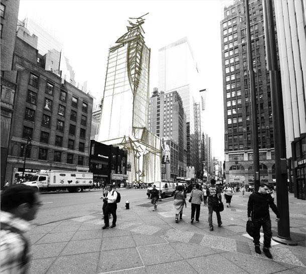 Architectural Sketch on Photo Photoshop Shalumov