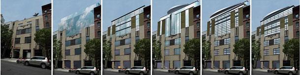Architectural rendering design process Photoshop sketch Shalum Shalumoov