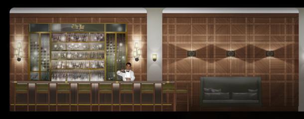 Refinery Hotel Bar Photoshop Elevation rendering Shalum Shalumov