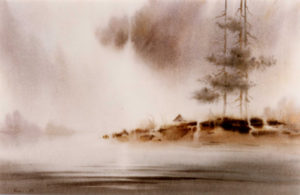 Wet-on-Wet Watercolor Landscape Shalumov