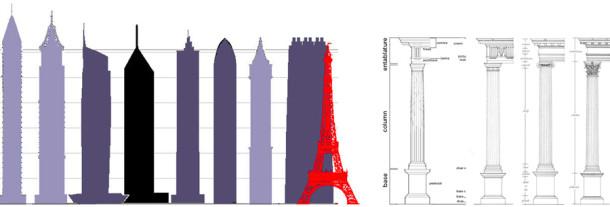 Columns and Skyscripers visual structure comparison