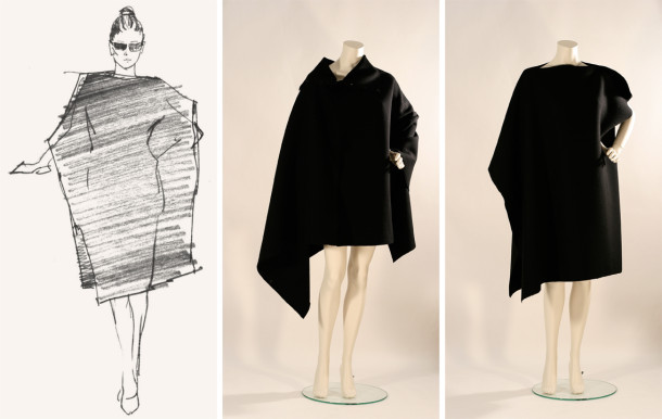 "Poncho ""Black Square"" Svetlana Shalumova Sketch by Shalum Shalumov Inspired by Art"