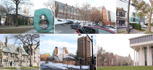 New buildings in historical neighborhood