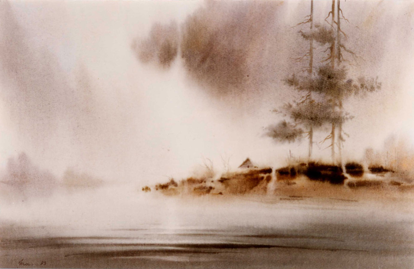 watercolor paintings wet-on-wet artist Shalum Shalumov landscape fine art aquarelle Акварель Шалум Шалумов