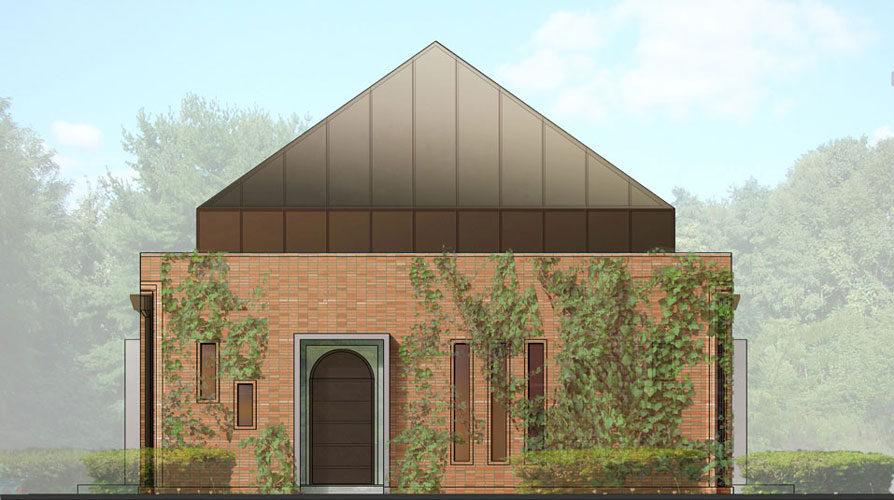 Mikvah  concept design proposal architectural idea plan elevation