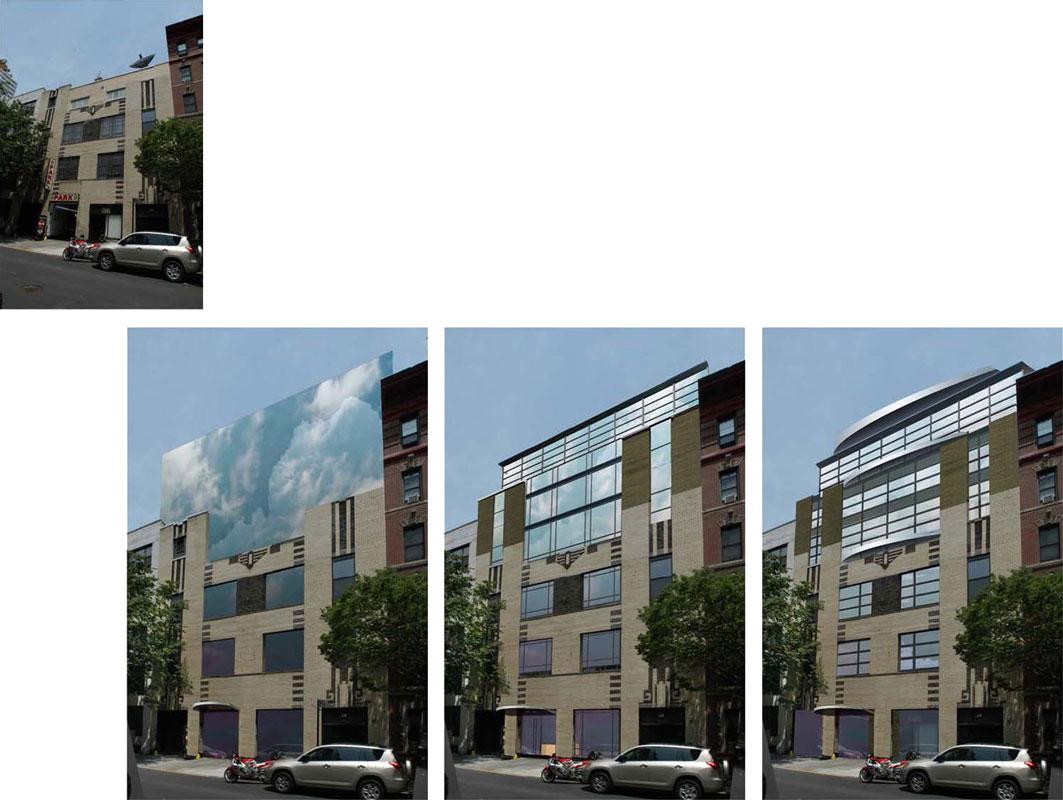 Elevation Options Research photoshop sketching architecture Shalum Shalumov