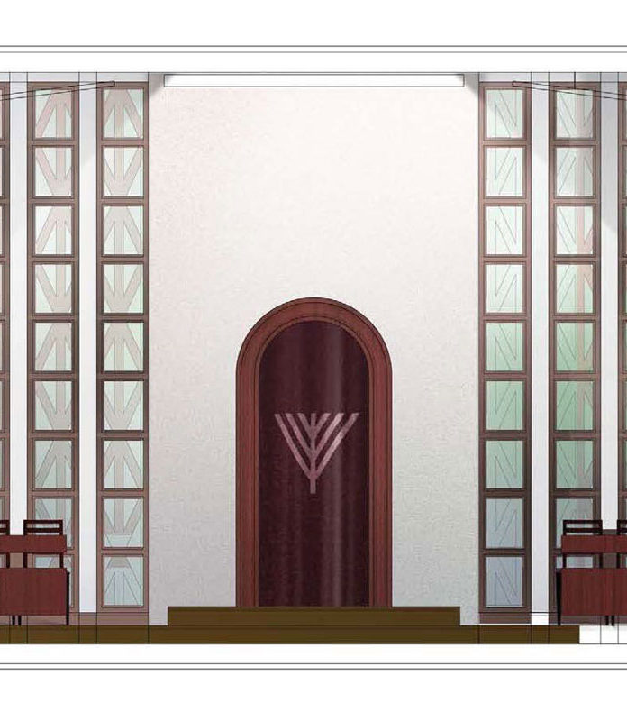 Synagogue Arc at Chabad house Interior concept design photoshop rendering elevation