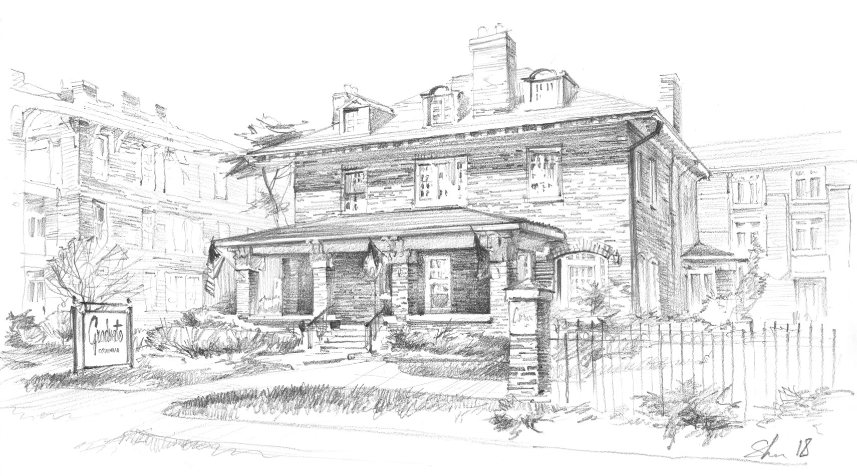 Architectural freehand rendering pencil architecture visual art  architecture illustration