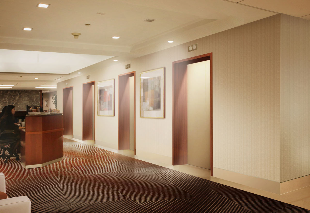 Photoshop architectural rendering over existing photo presentation design graphics