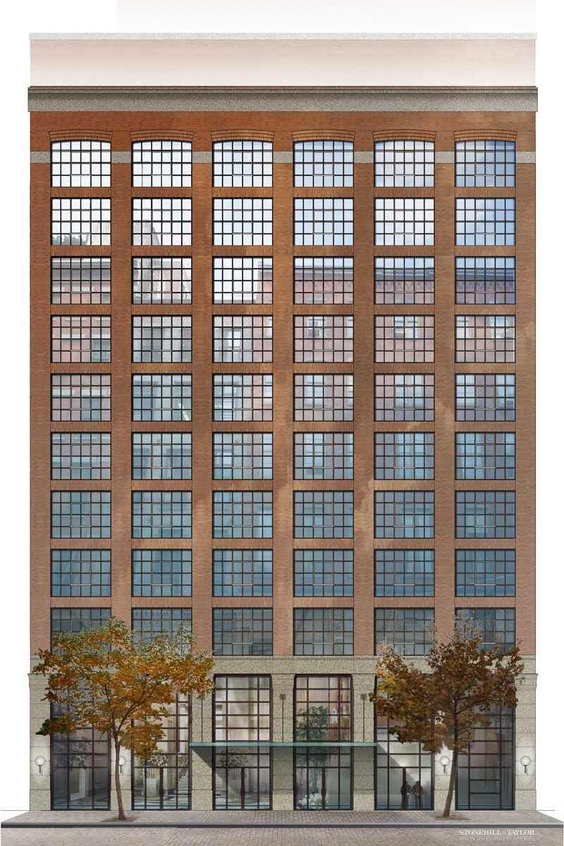 AutoCad Exterior Elevation painted in Photoshop architectural graphics renderings project presentation Shalumov Crosby Street hotel