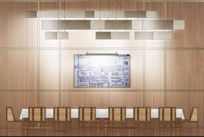 AutoCad Elevation painted in Photoshop architectural graphics renderings presentation